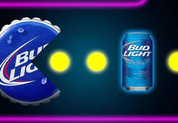 Bud light all out with a life size pac man maze super bowl like someone on the bud light marketing team indulged in a rather shameless bout of nostalgia and went all out for this years super bowl commercial aloadofball Choice Image