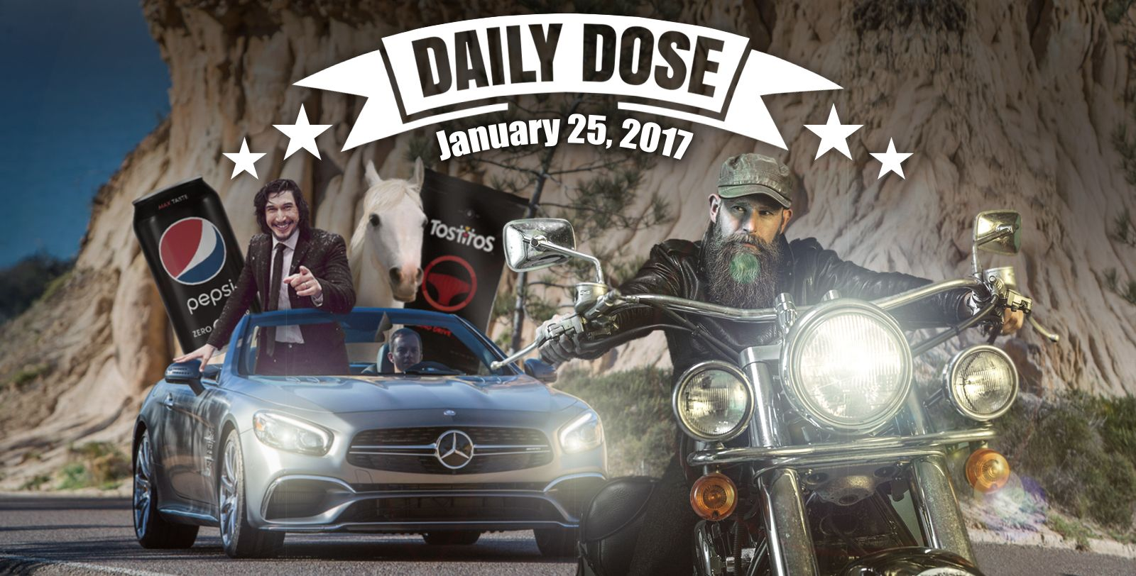the daily dose bikers and brawls super bowl commercials 2017. Black Bedroom Furniture Sets. Home Design Ideas